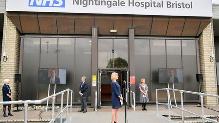 The formal opening of NHS Nightingale Hospital Bristol. Picture: Ben Birchall/PA Wire