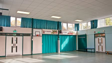 Interior of Ravenswood School sports hall which they are raising money to replace. Picture: MARK