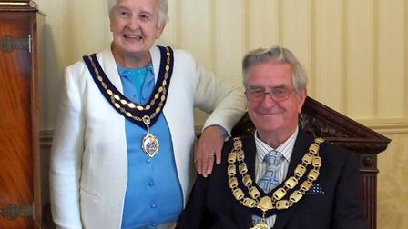 Cllr Mike Lyall and his wife Margaret. Picture: Weston Town Council
