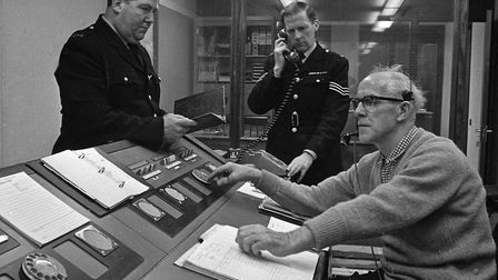 Police at Weston-super-Mare moved into their divisional headquarters this week. A scene in the new h