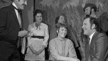 A scene from the first half of Burnham Operatic Society's production of 'White Horse Inn.'. Pict