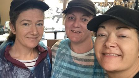 Bonnie, Bev and Leanne feed hospital workers, the homeless and vulnerable people in the town.