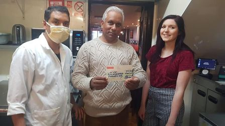 Hussain's donated £600 for Weston General Hospital. Picture: Aqila Hussain