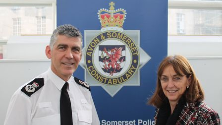 Chief Constable Andy Marsh and Police and Crime Commissioner Sue Mountstevens.