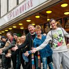Jack and the Beanstalk Panto cast outside the Playhouse.Picture: Mark Atherton