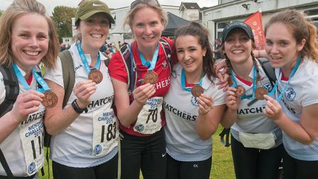 Members of Winscombe Ladies Hockey club who tackled the 30 mile challenge Weston Hopicecare Mendip C