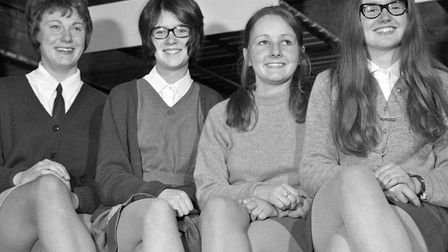 Violinists Jane Pearson (first in her class with 85 marks), Helen Storey, Anita Loney and Anthea Rob
