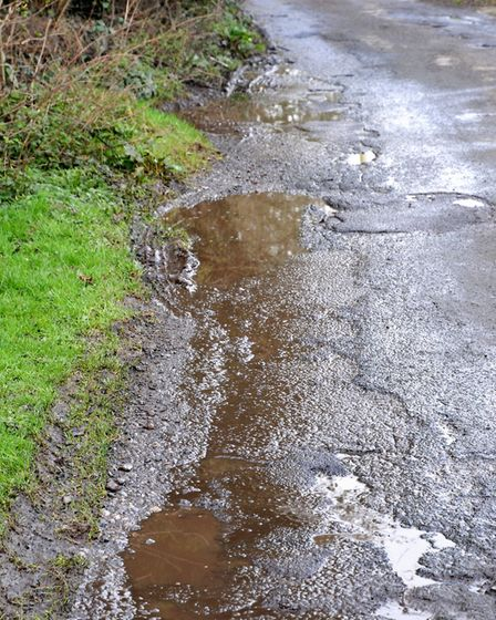Clevedon Old Park Road residents who are angry about the state of the road and North Somerset Counci