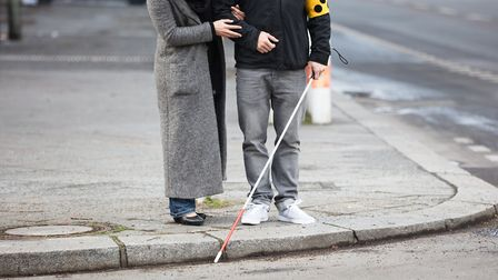 A charity has warned hundreds of blind people are struggling to get food due to the pandemic. Pictur
