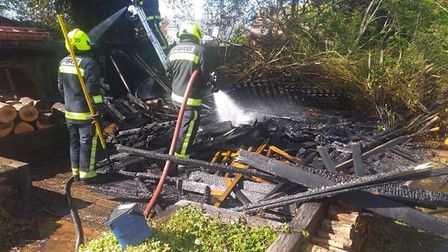 Crews from Burnham were called to tackle an out of control Bonfire. Picture: Burnham-on-Sea Fire Sta