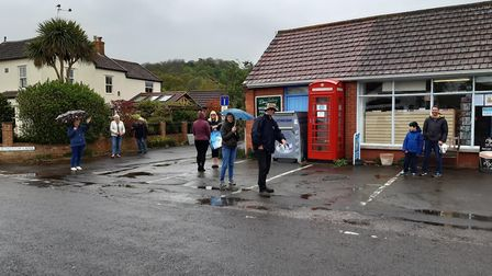Brent Knoll Emergency Shop opened on Saturday.Picture: Brent Knoll Emergency Shop