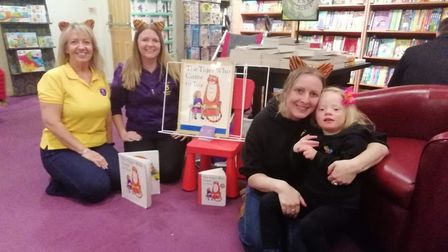 Nikki and Lucinda took part in the Makaton video.