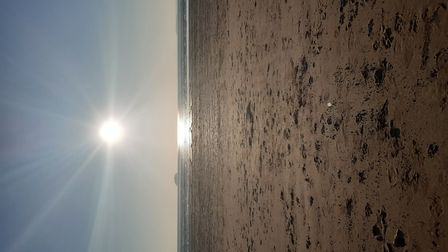 Richard Dunne took pictures of the sun setting over WEston sands while out on a walk with his wife.