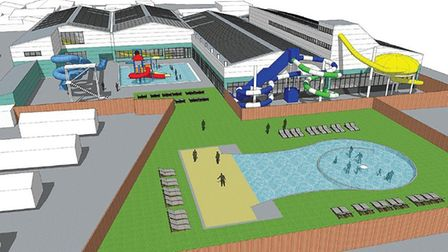 Plans have been unveiled for a major expansion of facilities at Brean Splash. Picture: Brean Splas