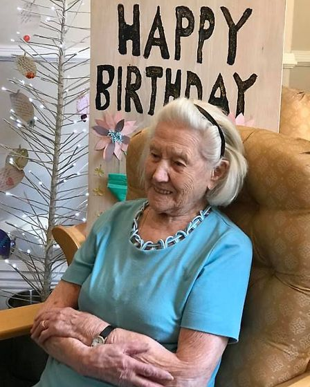 Margaret Reed, aged 110, has celebrated her milestone birthday at Priory Court.Picture: Priory Court