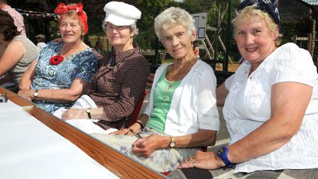 Barbara Cullen, Mary Williams, Marie Augustine and Norma SteeleBLEADON pictures of the street party