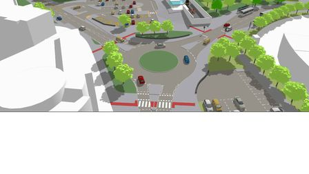 An artist's impression of what Portishead station would look like once built. Picture: MetroWest.