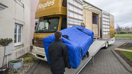 The Yeates team carrying out a home removal.