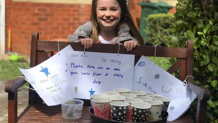 Belle has been selling sunflower seeds to raise money for the NHS.