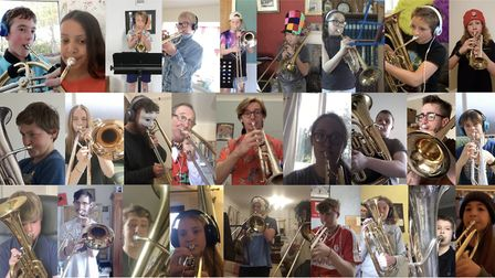 Cheddar Valley Music Club has created a virtual brass band.Picture: Sam Kail-Dyke