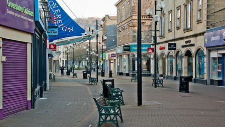 Weston's High Street during the early days of lockdown. Picture: MARK ATHERTON