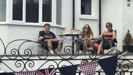 Residents in All Saints Road, Weston held a socially distanced VE Day street party. Picture: Sue Div