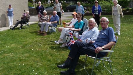 Residents at Beach Court in Weston celebrate VE Day Picture: Kath Francombe
