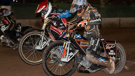 Somerset's Richard Lawson and Wolves' Sam Masters get away from the tapes (pic Colin Burnett)