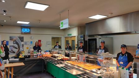The catering team at Weston General Hospital. Picture: Weston General Hospital