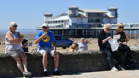 Sunbathers enjoyed the hot weather in Weston last weekend. Picture: Ben Birchall/PA Wire