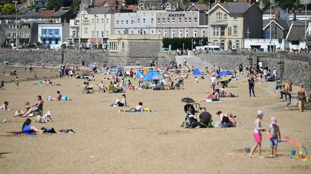 Sunbathers in Weston following ease of lockdown measures. Picture: Ben Birchall/PA Wire