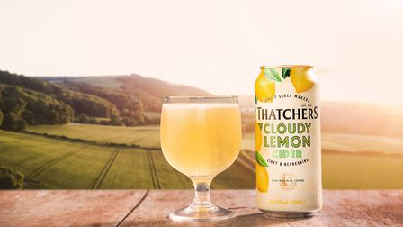 Thatchers Cloudy Lemon Cider.