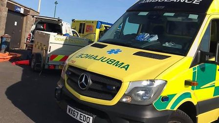 The casualties were left in the care of South Western Ambulance Service NHS Foundation Trust.