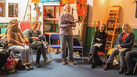 Bob Walton at Speakeasy poetry event at Big Wole hub. Picture: Marie-Dominique Demers-King