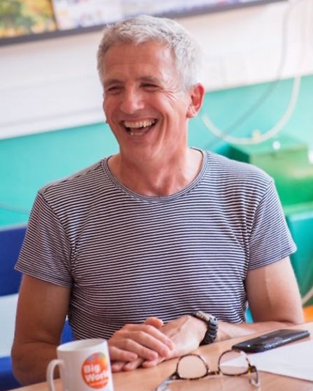 Author Patrick Gale at a Big WOrle workshop. Picture: Marie-Dominique Demers-King