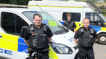 The special constabes who have been helping police in Nailsea during the pandemic,