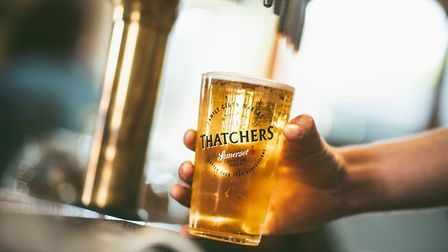 Thatchers will offer free cider to pubs and bars across the UK.