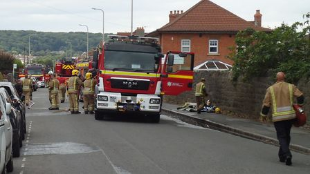 House fire at Drove Road Picture: Nick Page Hayman