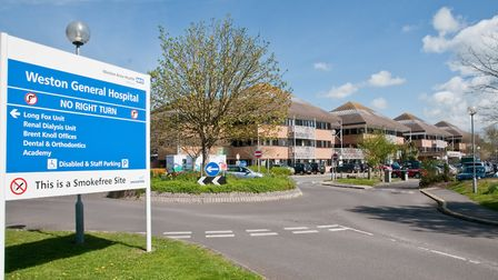 Weston Hospital closed to new patients after a surge in coronavirus infections on Bank Holiday Monda