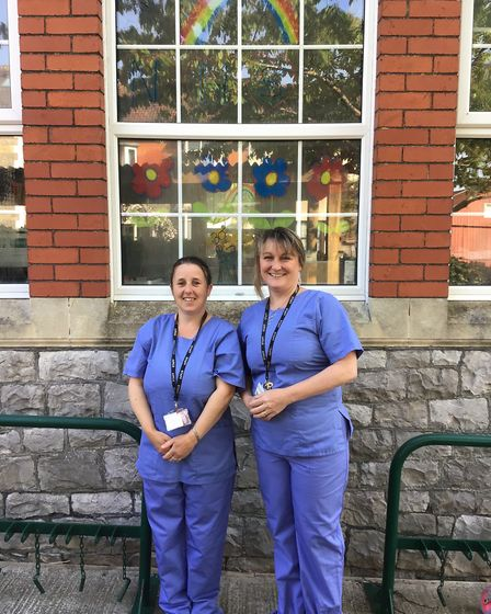Teachers dressed up as key workers to show their appreciation for front-line staff.