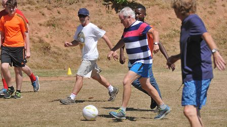The village field is used for football and boules. Picture: Jeremy Long