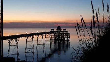 Clevedon pier at sunset. Picture: Faron George