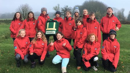 The Mendip Hills AONB young rangers in 2019. Picture: Mendip Hills AONB