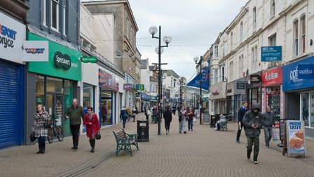 Weston High Street in March. Picture: MARK ATHERTON
