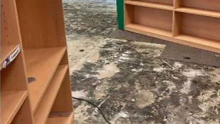 Flooding damage to the primary school. Picture: St Andrew's Primary School
