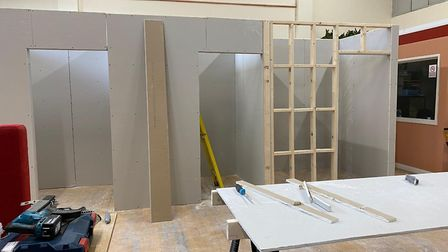 The pods which are being built at Somewhere To Go.