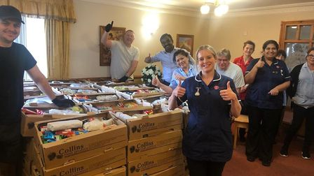 Staff at Summer Lane Care and Nursing Home in Weston. Picture: Country Court