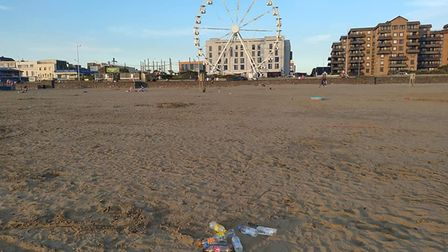 More rubbish was left on Weston beach. Picture: Holly Law
