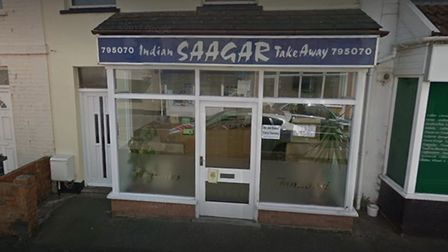 Saagar Indian Takeaway closed its doors on Monday, which reopened on Friday. Picture: Google Str