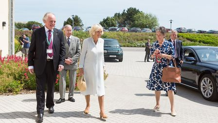 The Duchess of Cornwall visiting the hospice in 2013.